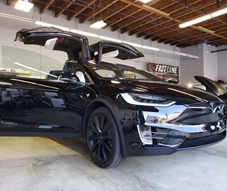 Tesla in for tint.