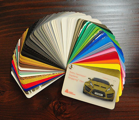 Huge assortment of color swatches from Avery Supreme Films