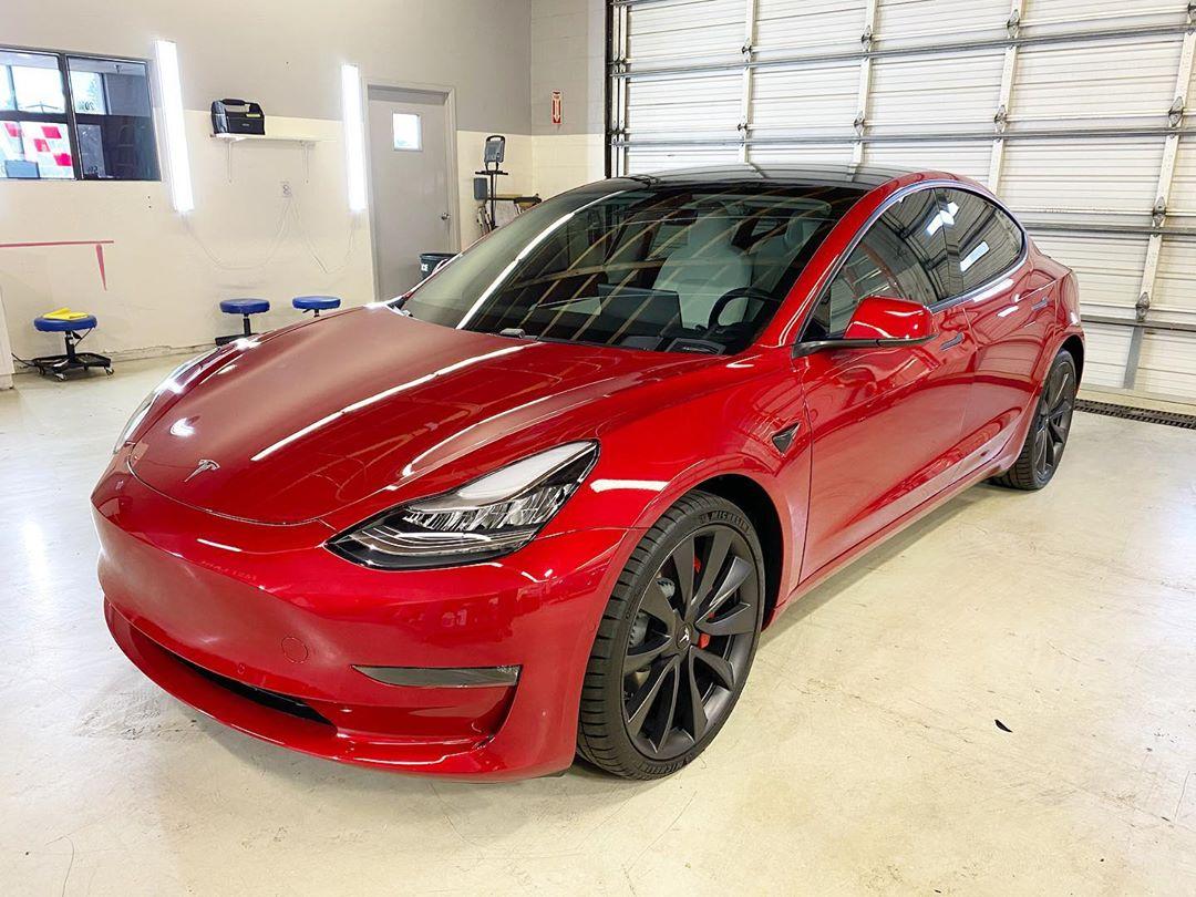 Model 3 chrome delete and window tint