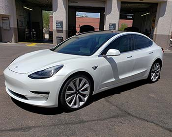 Tesla Window Tint Clear Bra No Seam Panoramic Roof Tint
