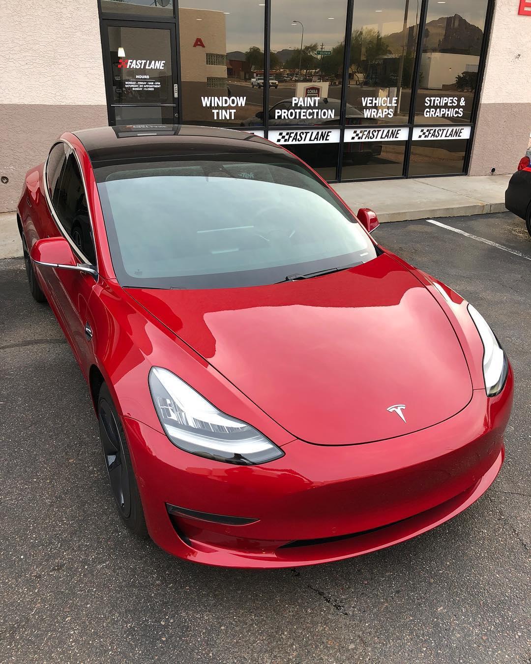Red Tesla PPF