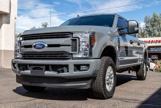 Ford truck wrapped in Avery gloss gray vinyl.