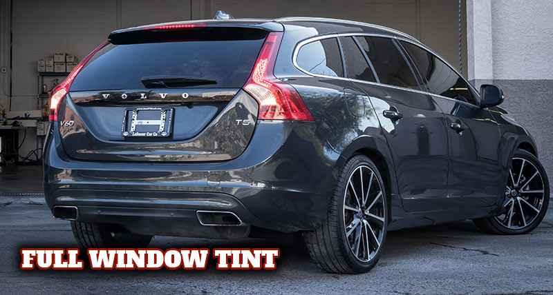 Volvo with full window tint service at our Scottsdale shop.