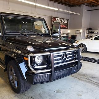 Black Mercedes G-Wagon at Fast Lane