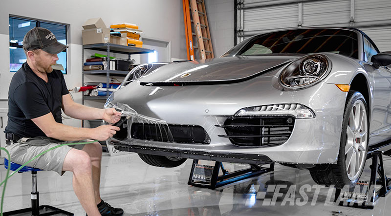 Installing clear bra on a Porsche Boxter