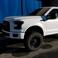 Ford F150 Lifted with Dark Tint