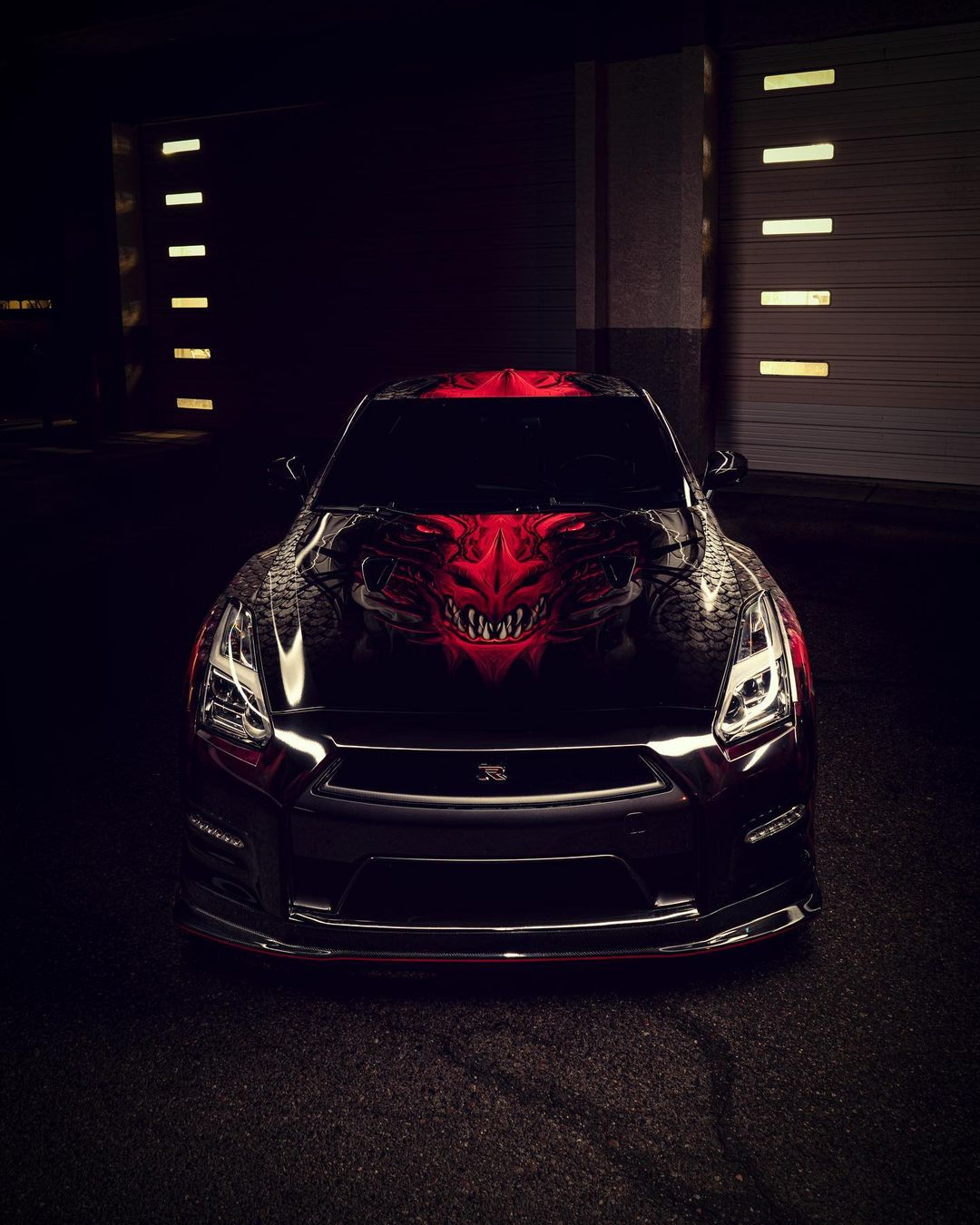 GTR with artistic print wrap in Scottsdale.
