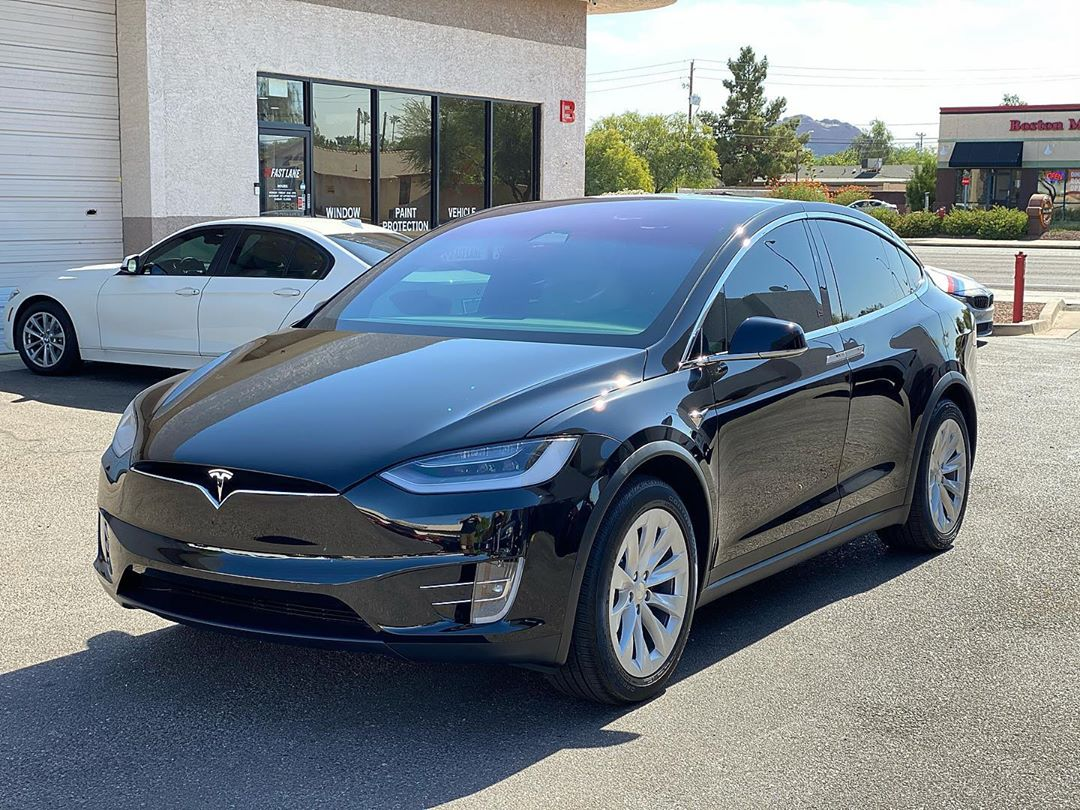 Black model X with paint protection