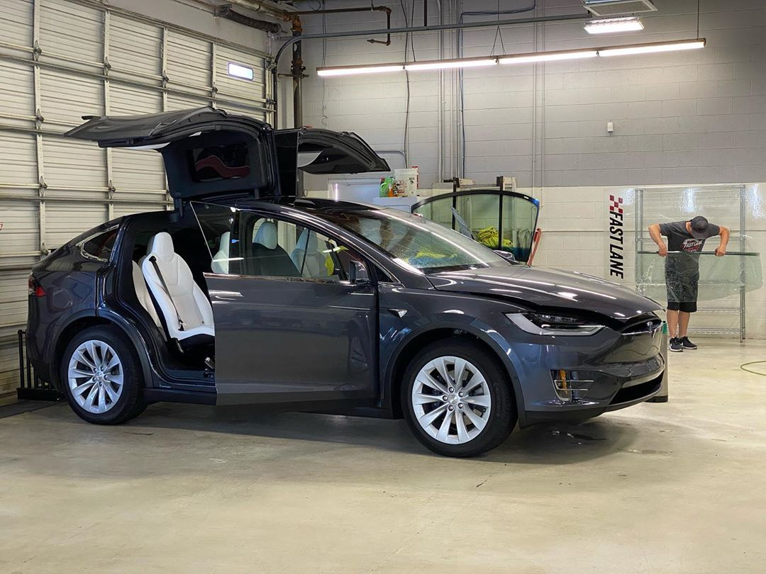 Tesla in for Windshield tint