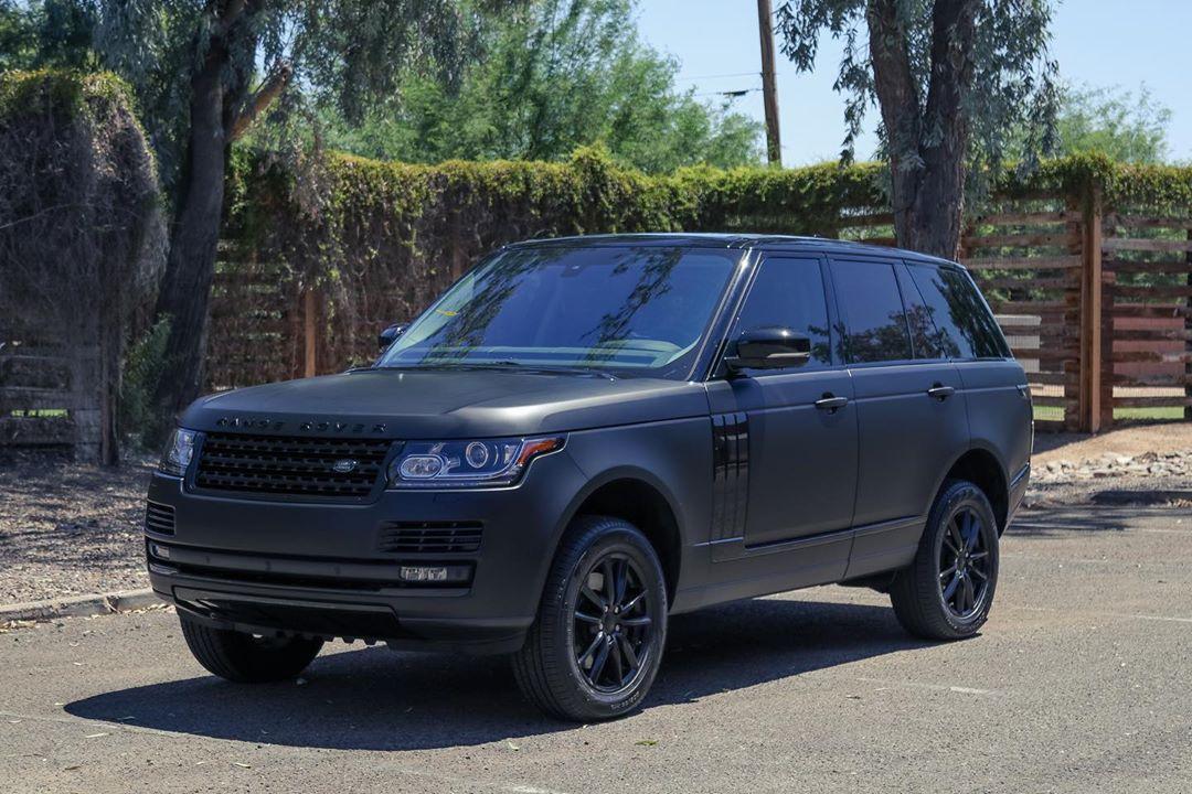 Matte black Range Rover