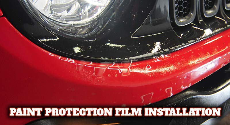 Installing Rock Chip Protection Film