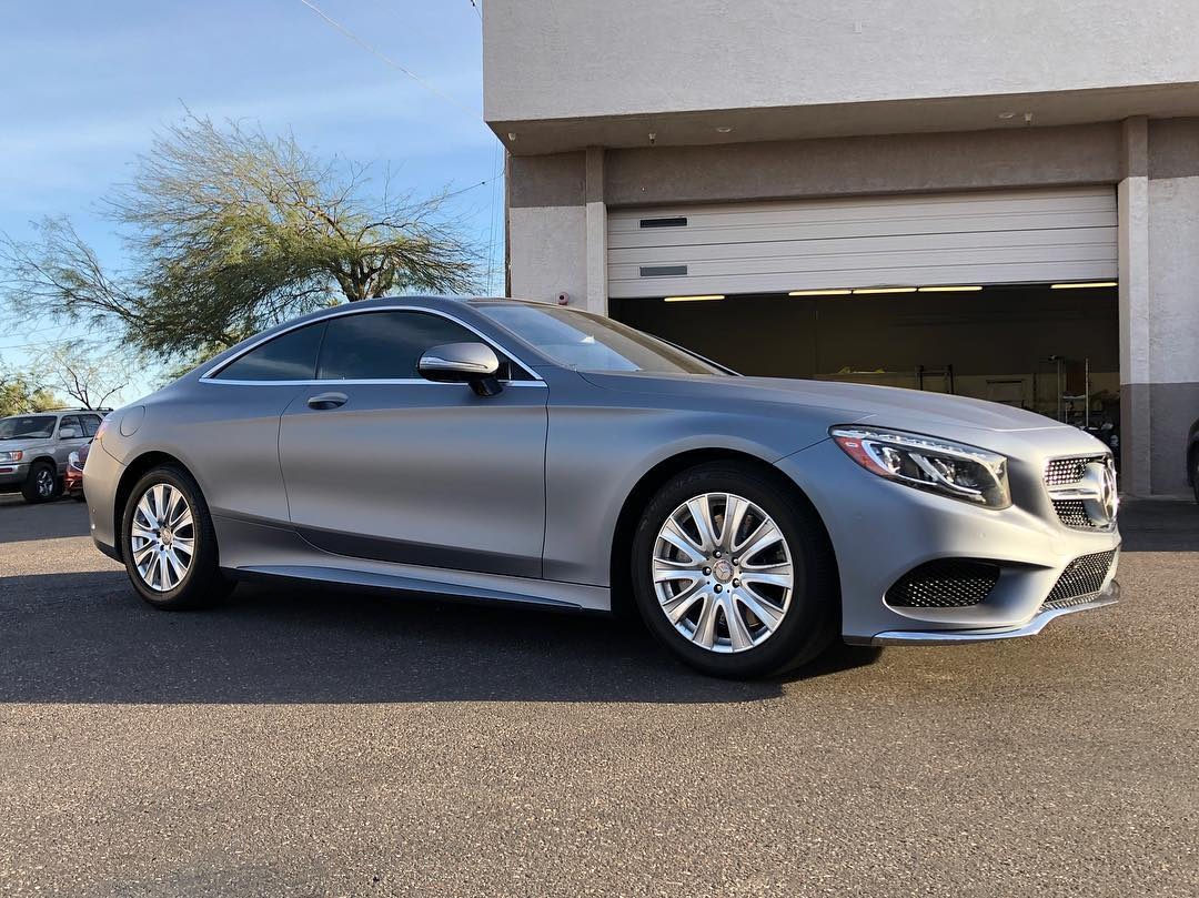 Wrapped S550 silver satin.