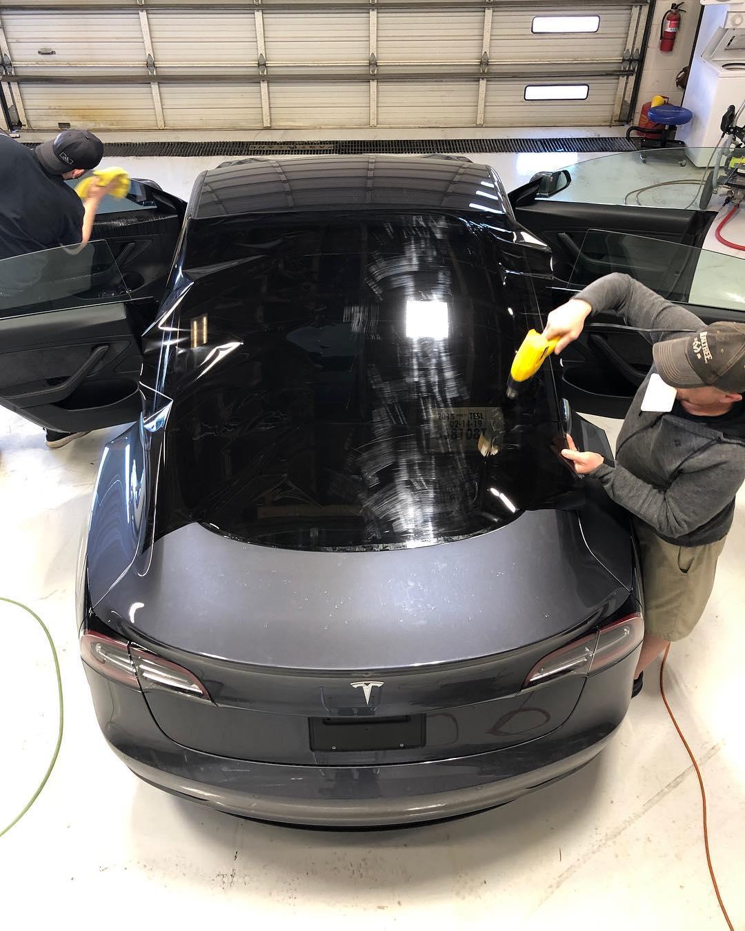 Model 3 in tint shop