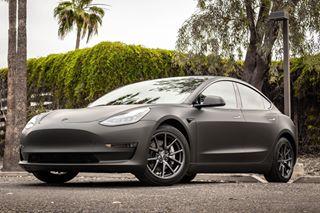 Tesla Model 3 vinyl wrapped.