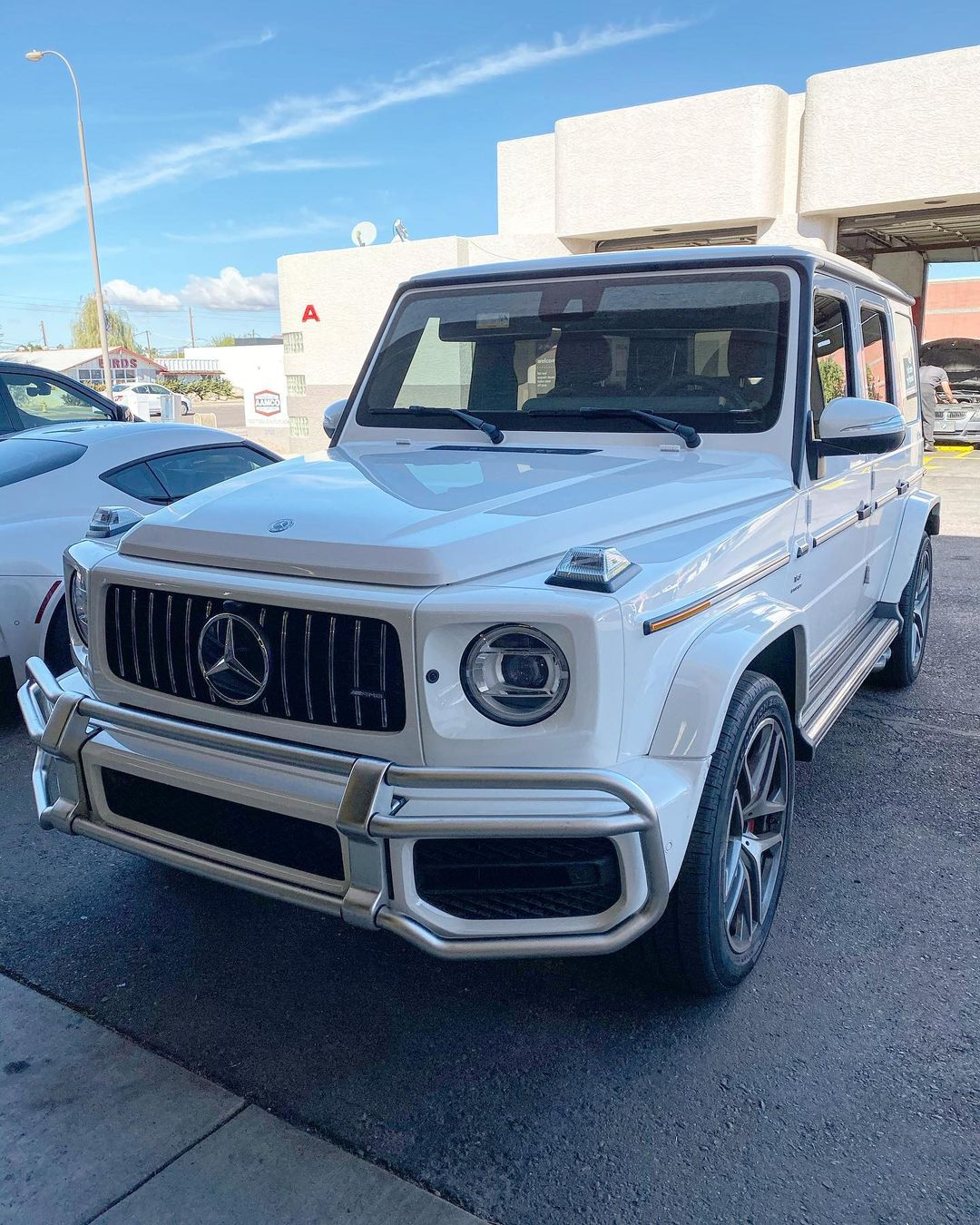 2020 G63 in shop for tint and clear bra ppf