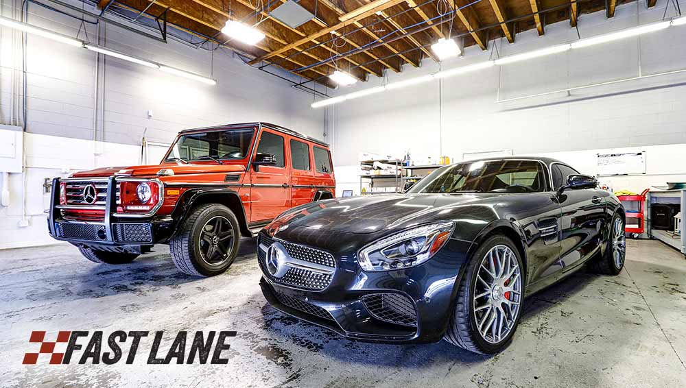 A few Mercedes getting window tint in our Scottsdale shop.