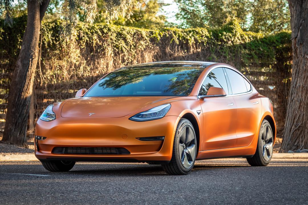 Wrapped Tesla in Scottsdale AZ
