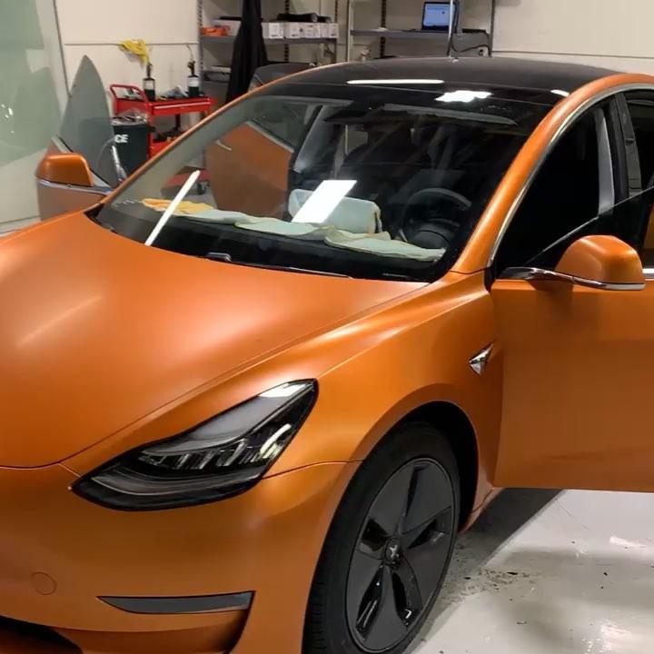 Copper Canyon 3M film on Tesla